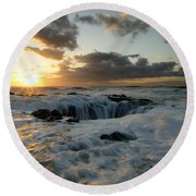 Thors Well Truly A Place Of Magic 4 Round Beach Towel