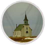 Those Old Hymns On A Snowy Day Round Beach Towel