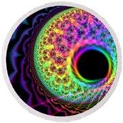 Thought Bubble Protozoa  Round Beach Towel