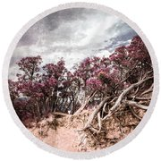 Thoughtless Roots  Round Beach Towel