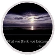 Thoughts Round Beach Towel