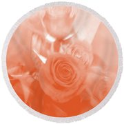 Thoughts Of Valentine's Day Round Beach Towel