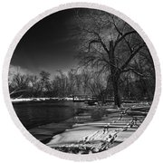 Thousand Islands Round Beach Towel by Thomas Young