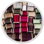 Threads I Round Beach Towel