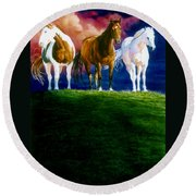 Three Amigos Round Beach Towel by Hanne Lore Koehler
