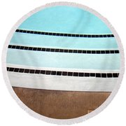 Three And A Half Palm Springs Round Beach Towel