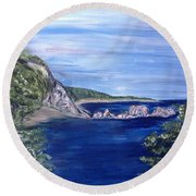 Three Arches Rock Round Beach Towel