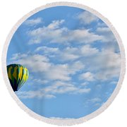 Three Beautiful Balloons In Cortez Round Beach Towel