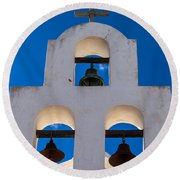 Three Bells In The Afternoon Round Beach Towel