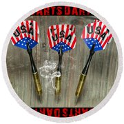 Three Darts Round Beach Towel