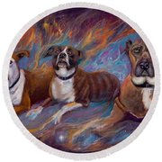 If Dogs Go To Heaven Round Beach Towel
