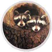 Three Is A Crowd Round Beach Towel