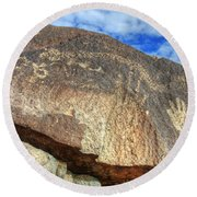 Three Rivers Petroglyphs 6 Round Beach Towel