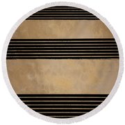 Three Steps Round Beach Towel