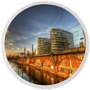 Three Towers Berlin Round Beach Towel by Nathan Wright