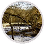 Through The Branches 2 - Central Park - Nyc Round Beach Towel
