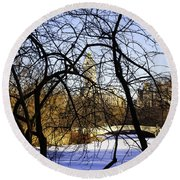 Through The Branches 3 - Central Park - Nyc Round Beach Towel