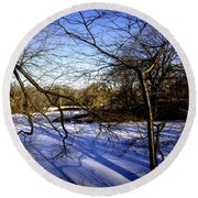 Through The Branches 4 - Central Park - Nyc Round Beach Towel