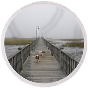 Through The Fog Round Beach Towel
