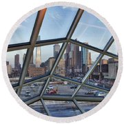 Through The Glass At Philly Round Beach Towel