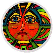 Through The Prism Of The Sun Round Beach Towel