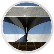 Through The Roof 1 Round Beach Towel