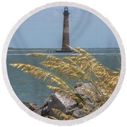 Through The Sea Grass Round Beach Towel