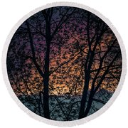 Through The Tree Round Beach Towel