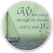 Through The Waters Round Beach Towel