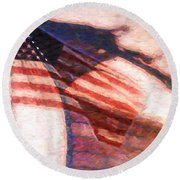 Through War And Peace Round Beach Towel
