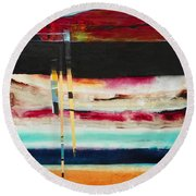 Thru The Dark Round Beach Towel