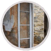 Thru The Prison Window Round Beach Towel