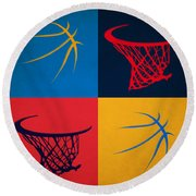 Thunder Ball And Hoop Round Beach Towel