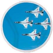 Thunderbird In Formation  Round Beach Towel