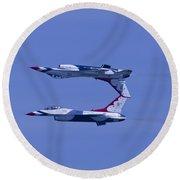 Thunderbird Solos 5 Inverted Over 6 Round Beach Towel