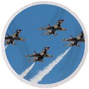 Thunderbirds Diamond Flyover Round Beach Towel