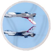 Thunderbirds In A Dangerous Formation Round Beach Towel