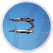 Thunderbirds Jet Team Perfect Symmetry Round Beach Towel