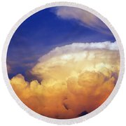 Thunderhead Round Beach Towel by Skip Nall