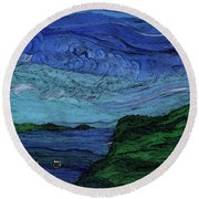 Thunderheads Round Beach Towel by First Star Art