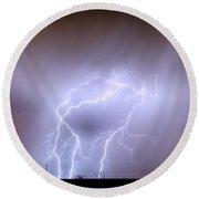 Thunderstorm Triple Threat Round Beach Towel