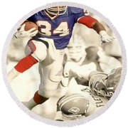 Thurman Thomas Round Beach Towel