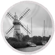 Thurne Windmill II Round Beach Towel