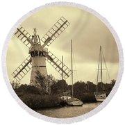 Thurne Windmill IIi Round Beach Towel
