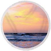 Topsail Island Pastel Sunrise Round Beach Towel