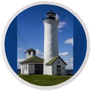 Tibbetts Point Lighthouse Round Beach Towel
