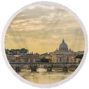 Tiber River Round Beach Towel