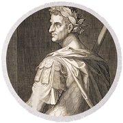 Tiberius Caesar Round Beach Towel by Titian