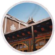Tibet Potala Palace 8 Round Beach Towel