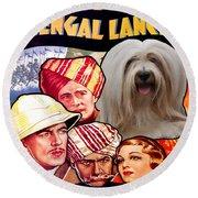 Tibetan Terrier Art - The Lives Of A Bengal Lancer Movie Poster Round Beach Towel